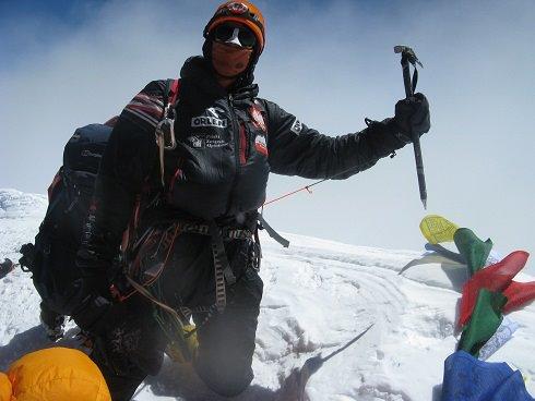 Adam Bielecki na szczycie K2