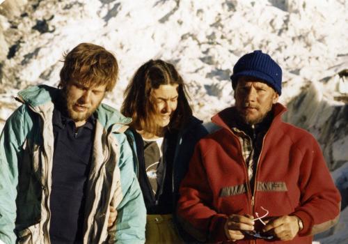 Artur Hajzer, Wanda Rutkiewicz i Jurek Kukuczka, Annapurna'87, z arch. Artura Hajzera