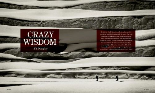 """Crazy Wisdom"" Ed Douglas, Alpinist (USA, January 2015)"